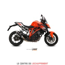 Silencieux MIVV ROUND GP Steel Black Adapt.KTM 1290 SUPER DUKE 2014-...