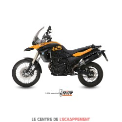 Silencieux MIVV SPEED EDGE Steel Black Adapt.BMW F 650 GS / F 800 GS
