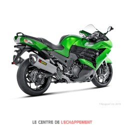 Ligne Complète AKRAPOVIC Racing Line Kawasaki ZZR 1400 2012-... Coupelle Carbone