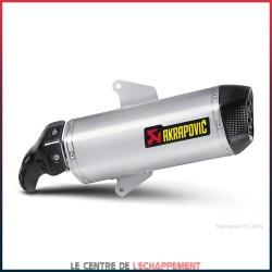Silencieux AKRAPOVIC Slip-On Aprilia SRV 850 2012-... Et Gilera GP 800 2008-... Coupelle Carbone