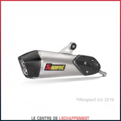 Silencieux AKRAPOVIC Slip-On BMW C 650 GT 2016-... Coupelle Carbone
