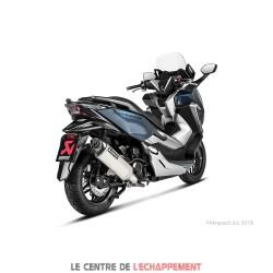 Silencieux AKRAPOVIC Slip-On Honda FORZA 300 2018-... Coupelle Carbone