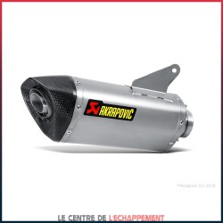 Silencieux AKRAPOVIC Slip-On Racing Ducati HYPERMOTARD / HYPERSTRADA 820 / 939 Coupelle Carbone