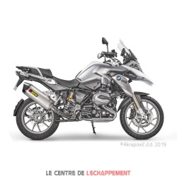Silencieux AKRAPOVIC Slip-On BMW R 1200 GS 2017-2018 Coupelle Carbone