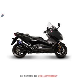 Ligne Complète TERMIGNONI Scream Black Edition Adapt.Yamaha T-MAX 530 (Euro4) 2017-... (coupelle carbone)